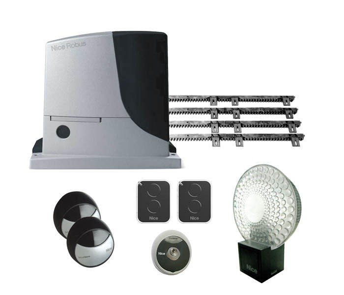 automatisme nice robus kit pour portail coulissant. Black Bedroom Furniture Sets. Home Design Ideas