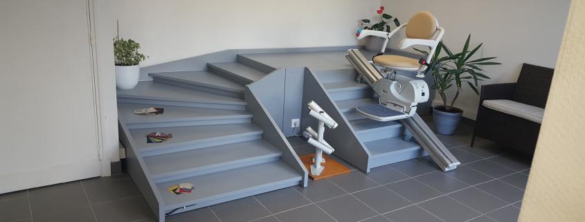 fauteuil monte - escalier